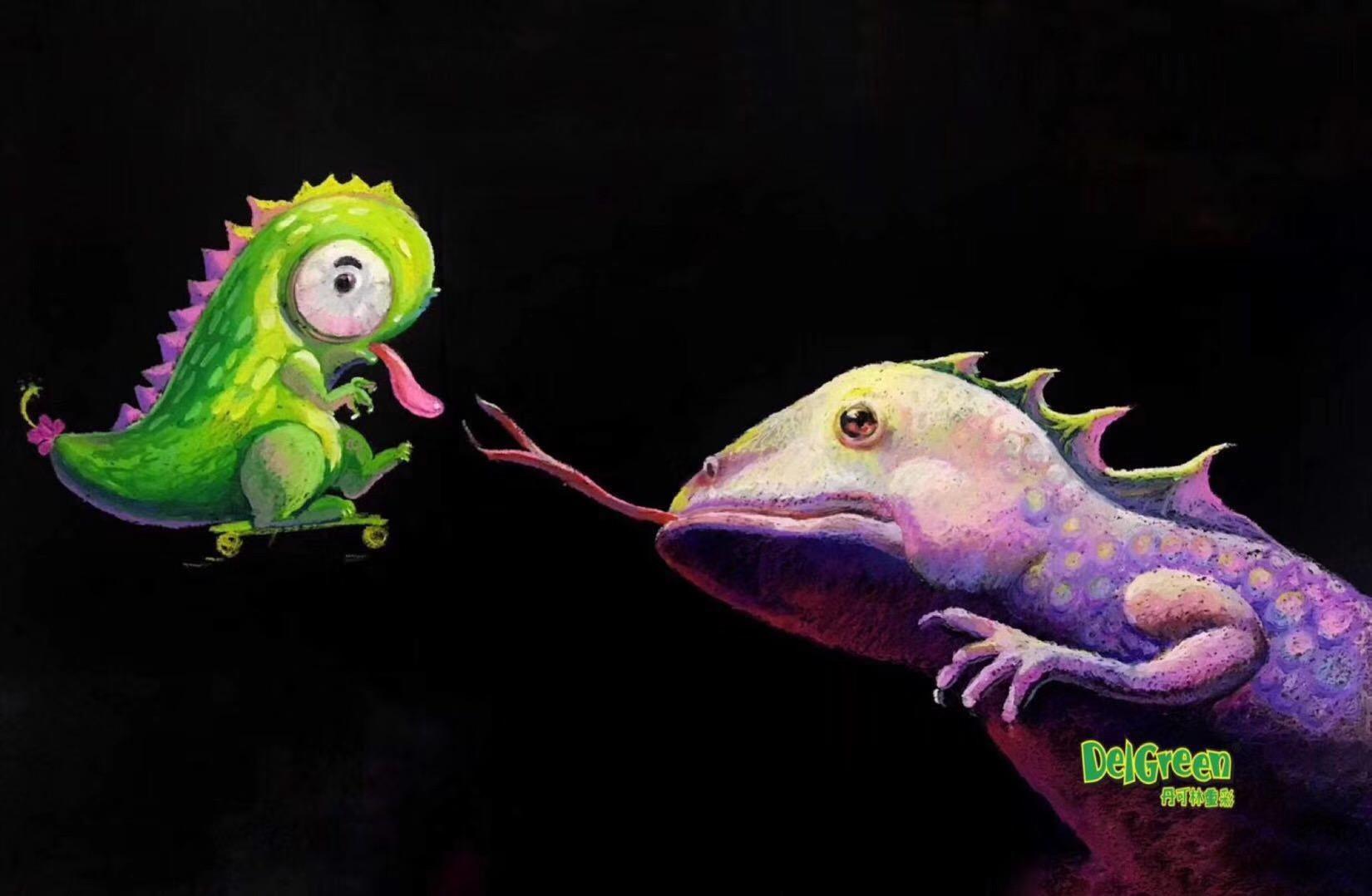 丹可林重彩油画棒作品分享
