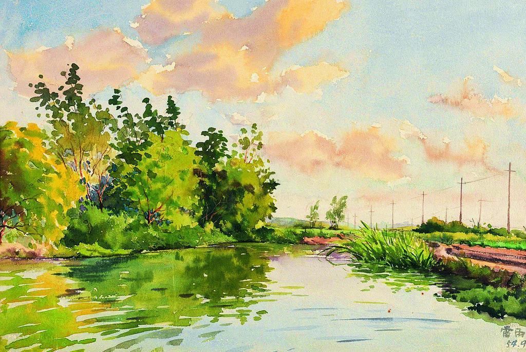 初学水彩画的画法步骤分享展示